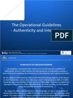 The Operational Guidelines Authenticity and Integrity