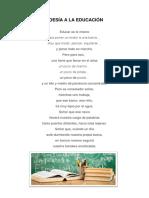 Poesía a La Educación
