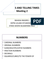 Numbers and Telling Times