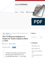 How To Measure Resilience