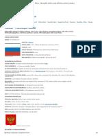 Rússia - Informações, História, Mapa Da Rússia, Economia, Bandeira