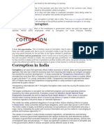 Corruption is One of the Biggest Threat To