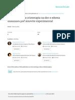 RFP 2010. a Influência Da Crioterapia Na Dor e Edema, Induzidos Por Sinovite Experimental