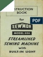 Sewmor 606 Manual
