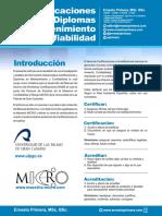 ARTICULO Certificaciones y Diplomas en Mantenimiento y Confiabilidad
