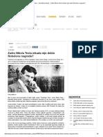 Zašto Nikola Tesla Nikada Nije Dobio Nobelovu Nagradu