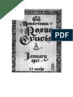 AMORC-The American Rosae Crucis 13 Enero 1917 Completo Traducido Al Español