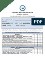 Ficha Estandarizada de Observacion Practica Docente