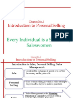 Chapter No.1- Introduction to Personal Selling