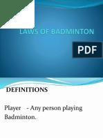 Badminton Lectures '15