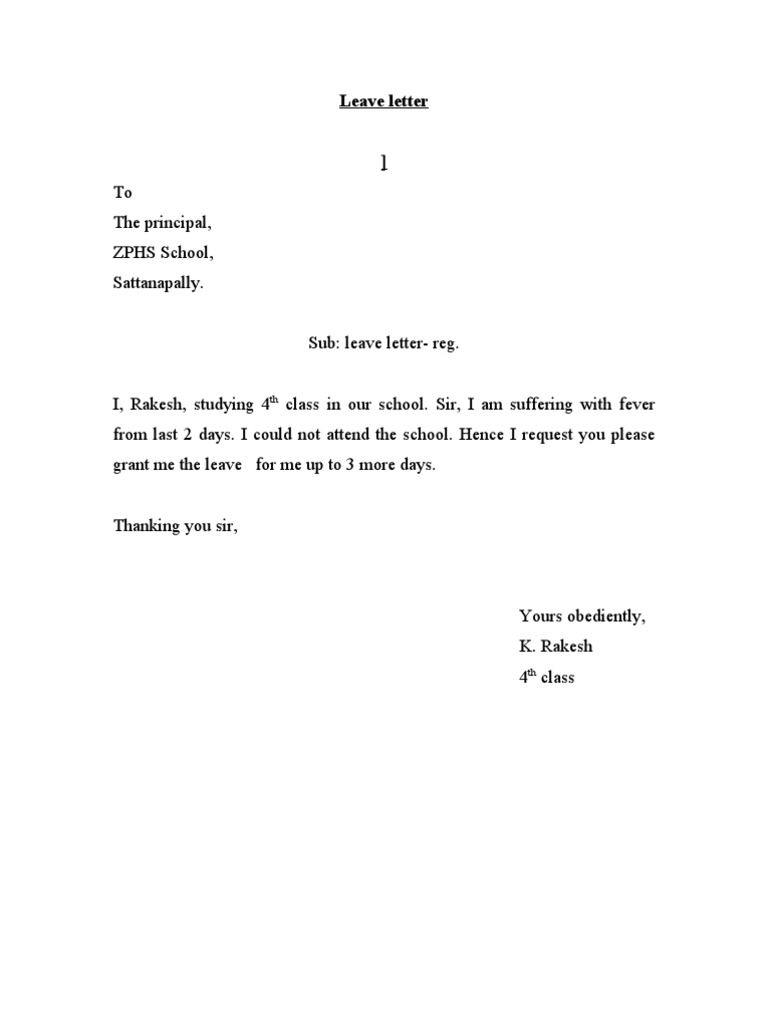 Leave Letter