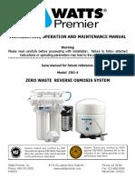 Watts ZRO-4 System Manual
