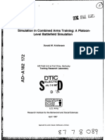 Simulation in Combined Arms Training a Platoon-Level Battlefield Simulation