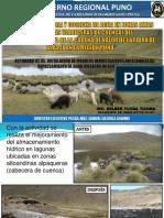 Avances en Siembra y Cosecha de Agua en Zonas Altas Alpaqueras