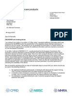 Aug. 30, 2017 determination letter from UK Medical and Healthcare products Regulatory Agency (MHRA) re