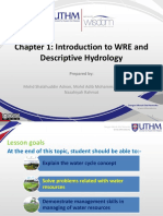 Chapter 1 Introduction to WRE and Descriptive Hydrology