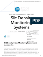 Silt Density Monitors for Pretreatment of Ro Water Treatment Systems - RODI Systems Corp. Water and Wastewater Treatment Systems, Controls, Instrumentation