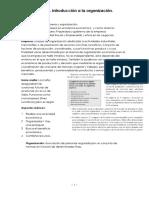 Tema 1 Teoría de la Organización