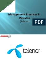 Management Practice of telenor