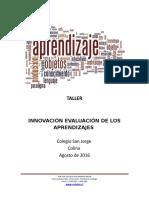 TALLER INNOVACIÓN EVALUACIÓN DE LOS APRENDIZAJES.doc