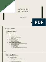 Handout - Module 3 - Income Tax - Part 1