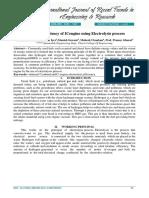 Increasing Efficiency of Ic Engine by Electrolysis Process