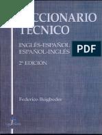 Diccionario Tecnico Español Ingles