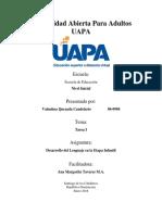 Desarrollo Del Lenguaje en La Etapa Infantil - Tarea I