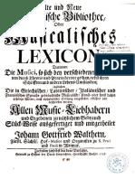 Musicalisches Lexicon (de Walther)