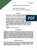 Qem-sem Image Analysis of Cyclosizer Classification