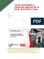 Conclusión Anticipada y Determinación Judicial de La Pena