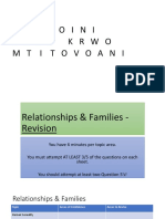 relationships  families - revision
