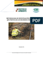 Investigacion de Causas de Ocurrencia de Incendios Forestales