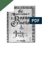 AMORC-The American Rosae Crucis 16 Julio 1917 Completo Traducido Al Español