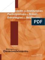 PIRES_Efetividade Das Instituições Participativas