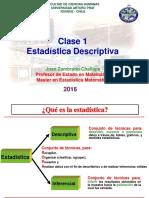 Clase 1 Estadistica Descriptiva Bsica 2016