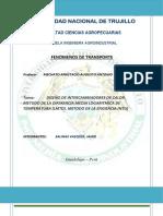 Diseño de Intercambiadores de Calor. Metodo de La Diferencia Media Logaritmica de Temperatura (Lmtd). Metodo de La Eficiencia (Ntu)