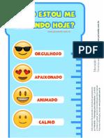 Emocionometro Emoji Emoções Psicoedu