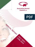 Aust Dental Council Annual Report 2014