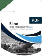 Bilan Des Realisations 2016-Fr