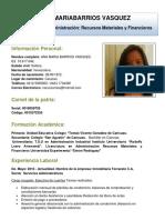 Curriculum Ana Maria Barrios Vasquez