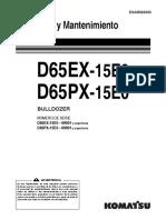 D65EX-15E0Operacion y Mantenimiento Español