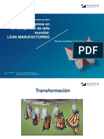 Competidor de Talla Mundial Lean Manufacturing