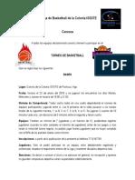 Convocatoria Liga de Colonia Issste 2018-1