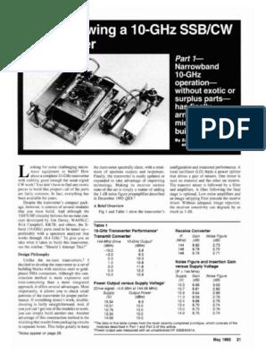 Home Brewing a 10 GHz SSB-CW Transverter | Amplifier