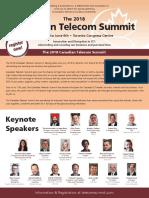 The 2018 Canadian Telecom Summit Brochure