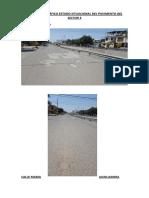 Panel Fotográfico Estado Situacional Del Pavimento Del Sector 3 (1)