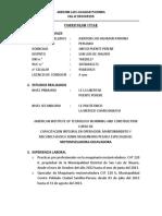 Curriculum Pechito