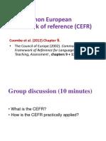 LA- Session 3 -The CEFR