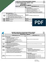 MST Date-sheet March 2018